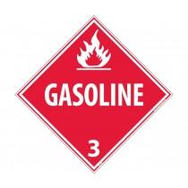 Gasoline Class 3 DOT Placard (#DL134)