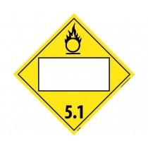 Oxidizer 5.1 Class 5 Blank DOT Placard (#DL14B)