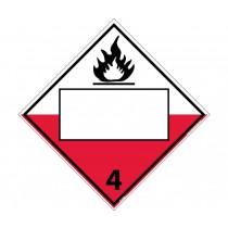 Combustible Class 4 Blank DOT Placard (#DL153B)