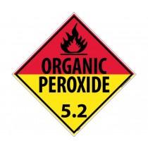 Organic Peroxide 5.2 Class 5 DOT Placard (#DL18)