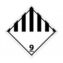 Dangerous Goods Class 9 DOT Placard (#DL50)
