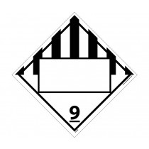 Dangerous Goods Class 9 Blank DOT Placard (#DL67B)