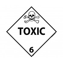 Toxic Class 6 DOT Placard (#DL87)