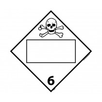Poisonous and Infectious Substances Class 6 Blank DOT Placard (#DL8B)