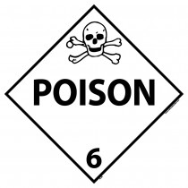 Poison Class 6 DOT Placard (#DL8)