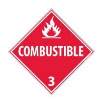 Combustible Class 3 DOT Placard (#DL9)