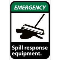 Emergency Spill response equipment ANSI Sign (#EGA1)
