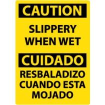 Caution Slippery When Wet Spanish Sign (#ESC57)