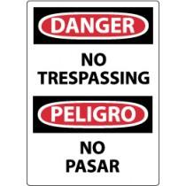 Danger No Trespassing Spanish Sign (#ESD81)