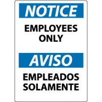 Notice Employees Only Spanish Sign (#ESN215)