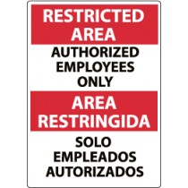 Restricted Area Authorized Employees Only Spanish Sign (#ESRA4)