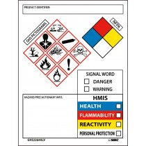 GHS Secondary Container Labels with Box (#GHS2264ALV)