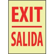 Exit Spanish Glow Sign (#GL30)