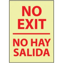 No Exit Spanish Glow Sign (#GL64)