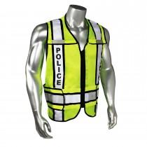 Breakaway Contrast Police Safety Vest, Black Trim (#LHV-207-3G-BLK-POL)