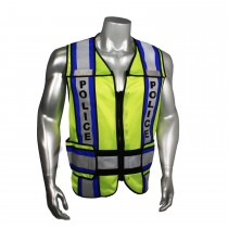 "Breakaway 4"" Contrast Police Safety Vest, Blue Trim (#LHV-207-4C-POL)"
