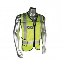 Breakaway Police Safety Vest, Blue Trim (#LHV-5-PC-ZR-POL)