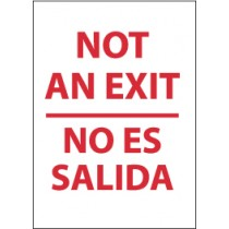 Not An Exit Spanish Sign (#M695)