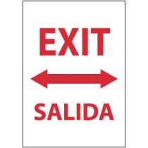 Exit (arrow both directions) Spanish Sign (#M696)