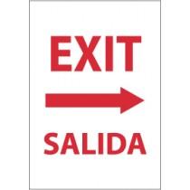 Exit (right arrow) Spanish Sign (#M698)