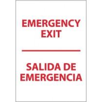 Emergency Exit Spanish Sign (#M699)