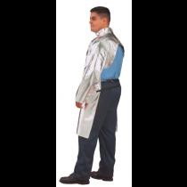 "19oz. Aluminized Carbon Kevlar 30"" Open Back Coat (#564-ACK-30)"