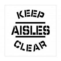 Keep Aisles Clear Plant Marking Stencil (#PMS212)