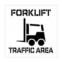 Forklift Traffic Area Plant Marking Stencil (#PMS220)