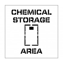 Chemical Storage Area Plant Marking Stencil (#PMS223)