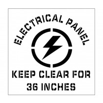Electrical Panel Keep Clear Plant Marking Stencil (#PMS226)