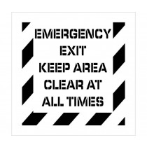 Emergency Exit Keep Area Clear Plant Marking Stencil (#PMS234)