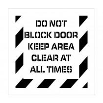 Do Not Block Door Plant Marking Stencil (#PMS235
