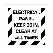 Electrical Panel Keep Clear Plant Marking Stencil (#PMS236)