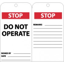 Stop Do Not Operate Tag (#RPT147)