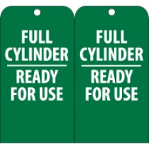 Full Cylinder Ready For Use Tag (#RPT36)