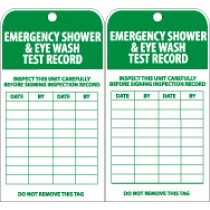 Emergency Shower & Eye Wash Test Record Tag (#RPT37)
