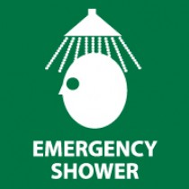 Emergency Shower Sign  (#S54)