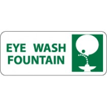 Eye Wash Fountain Pictorial Sign (#SA115)