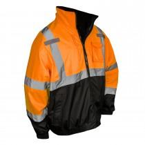 Three-In-One Deluxe Hi-Viz Bomber Jacket, Orange (#SJ210B-3ZOS)