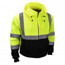 Class 3 Color Blocked Hooded Sweatshirt, Green (#SJ32-3ZGS)