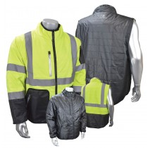 Quilted Reversible Jacket With Zip-Off Sleeves (#SJ510-3ZGS)
