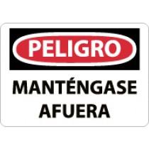 Peligro Mantengase Afuera Sign (#SPD59)