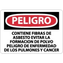 Peligro Contiene Fibras De Asbesto… Sign (#SPD640)