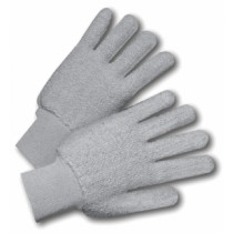 Cotton Double-Palm Terry Gloves Gray (#T24KWG)