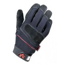Mechanics Split-Leather Anti-Vibration Gloves (#V420-BLK)
