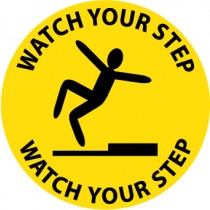Watch Your Step Walk On Floor Sign (#WFS1)