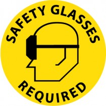 Safety Glasses Required Walk On Floor Sign (#WFS15)
