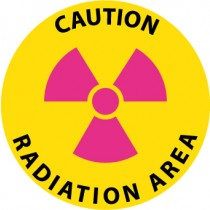 Caution Radiation Area Walk On Floor Sign (#WFS22)