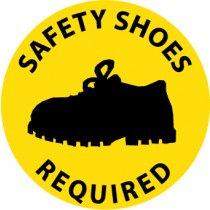 Safety Shoes Required Walk On Floor Sign (#WFS32)