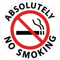 Absolutely No Smoking Walk On Floor Sign (#WFS4)